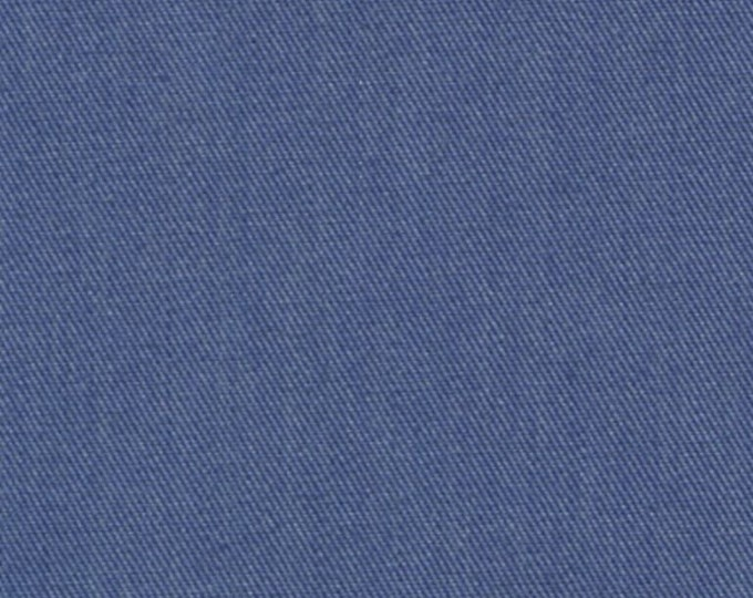 Recycled Water Bottle Fabric Cotton Blend Eco Twill Fabric Denim Blue MULTIPURPOSE