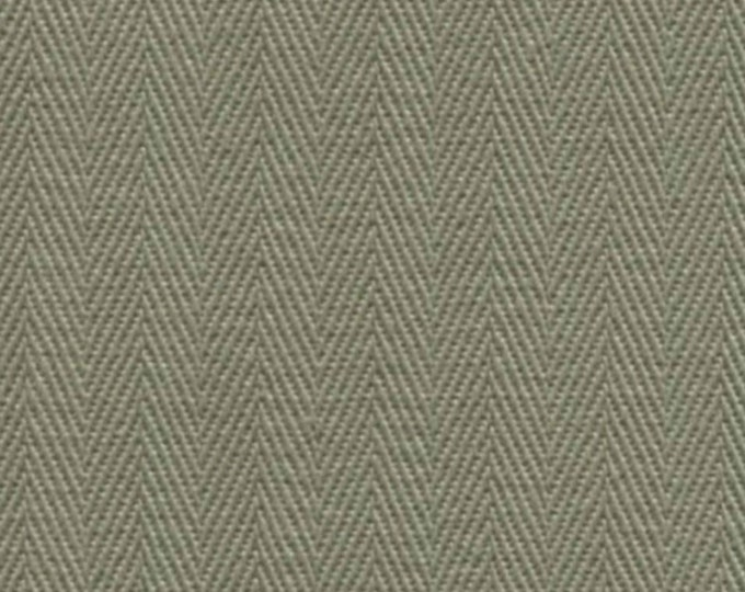Light Olive HERRINGBONE Cotton Fabric PRESHRUNK Ideal For Slipcovers Drapery Apparel Bags QUALITY