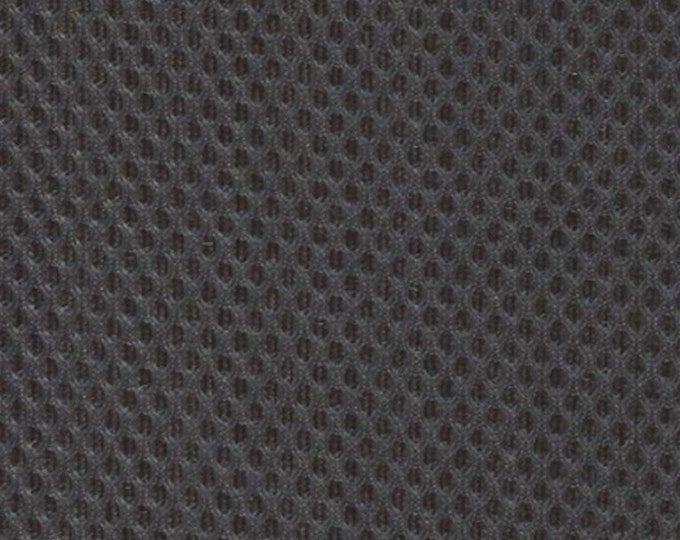 Padded Mesh Fabric DARK GRAY Auto Upholstery Bags Shoes Backpacks Straps Crafts Spacer