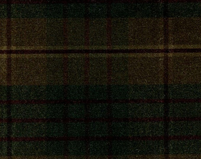 5 Yards Earthy AUTUMN PLAID Waxed Oilcloth Cotton Canvas Duck Plaid Fabric For Apparel Upholstery Bags Outdoor Gear Tents