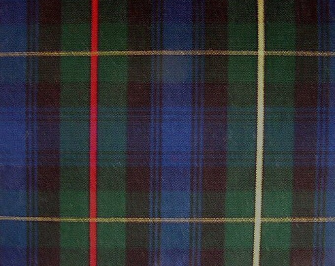 Stewart Hunting Tartan Plaid Fabric For Upholstery Slipcovers Green Navy Black Red Yellow