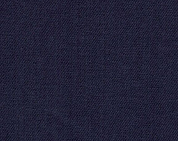 Blue Sanded Cotton Twill Fabric Brushed Apparel Clothing Crafts Home Decorating