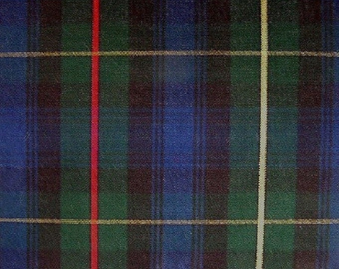 Stewart Hunting Plaid Fabric Tartan For Home Decorating Drapery Apparel Crafts Uniforms Multipurpose