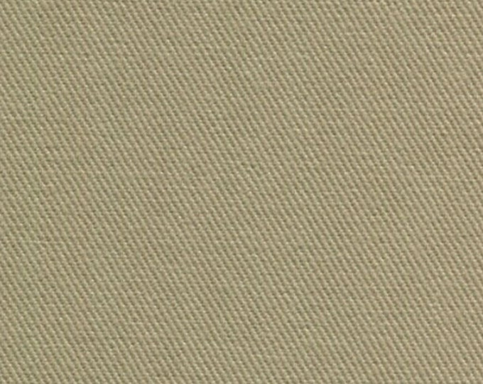 Brushed COTTON Twill Upholstery Slipcover Fabric KHAKI Home Decor Slipcovers Clothing