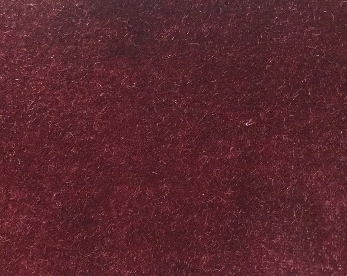 Mohair Upholstery Fabric Heavy Wool Bordeaux Red