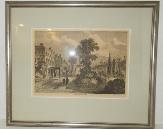 Antique Henry Prior Print Queen Square 1810 PROFESSIONALLY Framed Matted English London