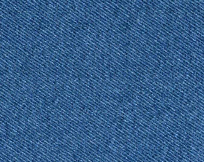 Medium Blue Denim Fabric Preshrunk Cotton Upholstery Slipcovers Apparel