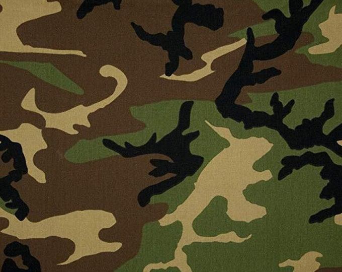 50 Yard Roll Camo Print Twill Fabric Cotton Blend Multipurpose Medium Weight Apparel Outdoor Gear
