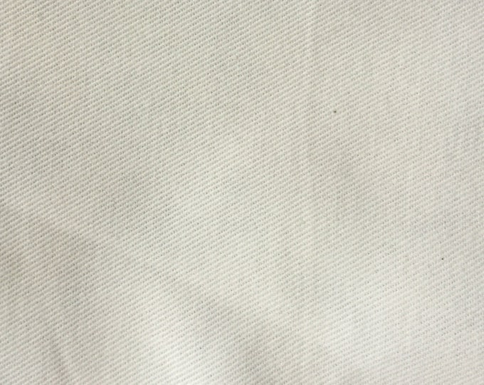 Creamy White Brushed Cotton Twill Upholstery Slipcover Fabric Winter WHITE Home Decor Clothing Undyed PFD