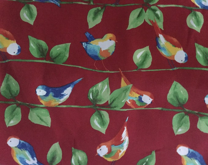 Indoor Outdoor Fabric Pretty Birds For Upholstery Drapery Bags Crafts