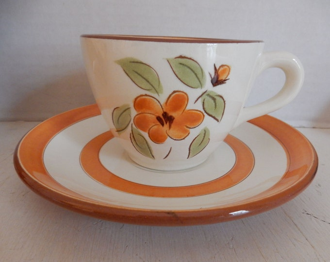 Stangl Pottery Bittersweet Cup & Saucer Southwestern Colors Dinnerware Dish Sets