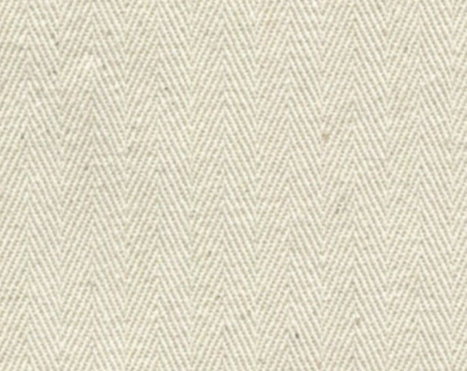 Herringbone Cotton Fabric NATURAL Ideal For Slipcovers Drapery Apparel Bags QUALITY Multipurpose