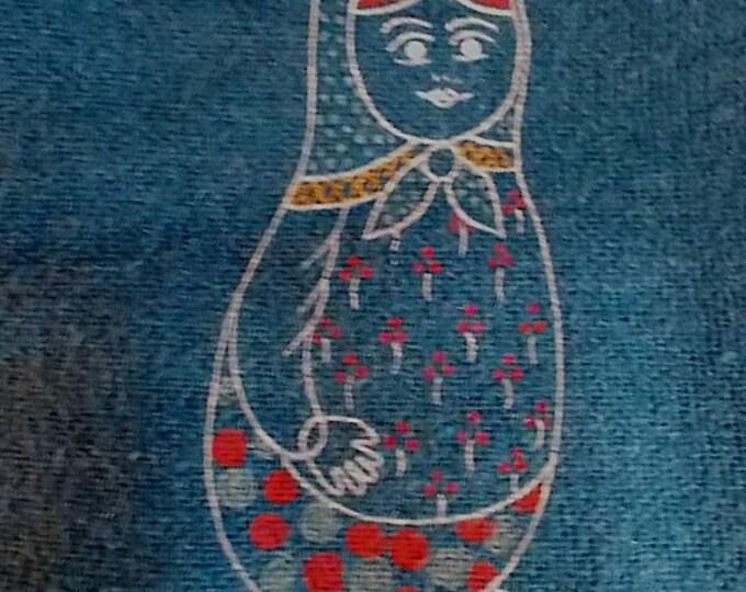 Russian Nesting Doll Womens PANT SUIT CLOTHING Jacket Slacks Matryoshka Babushka