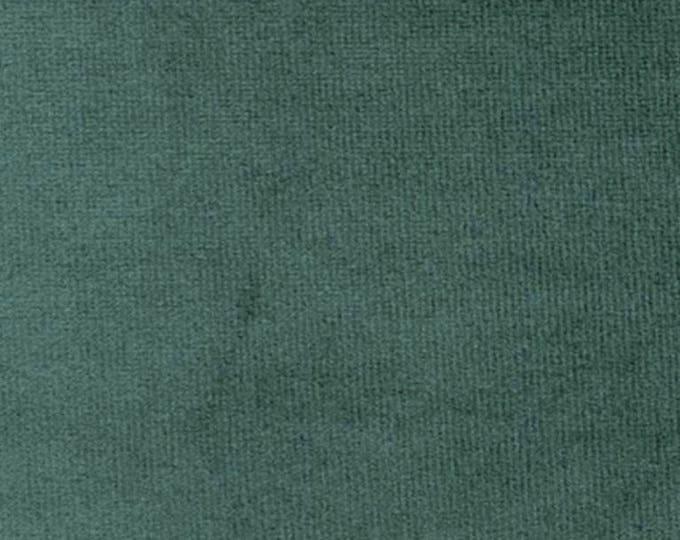 JADE GREEN Washable Velvet Fabric Multipurpose Drapery Apparel Home Decor