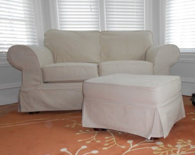 Brushed Twill Upholstery Fabric Slipcovers Cotton Natural Cream Heavy Apparel Crafting