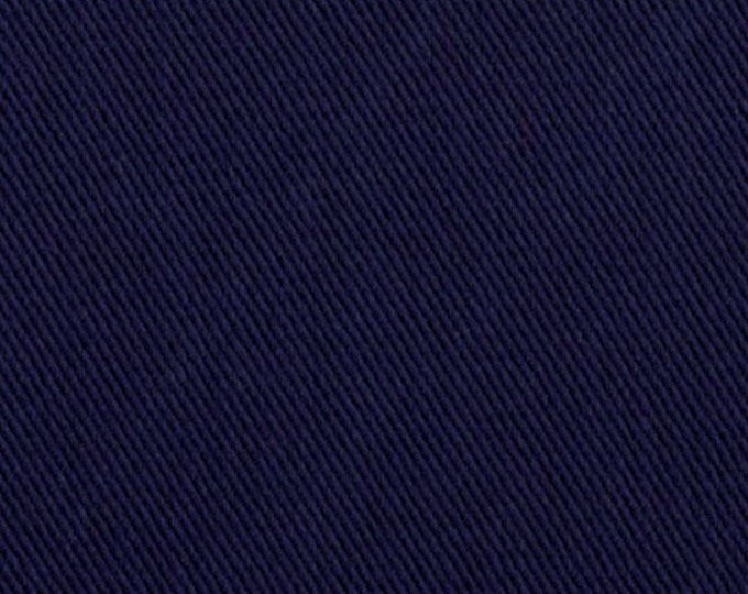 Navy Blue Soft Cotton Fabric For Apparel Home Decor Multipurpose Twill