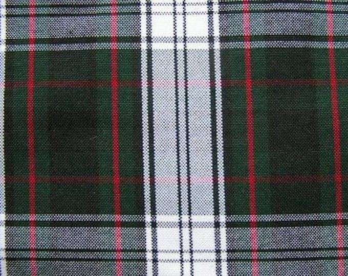 Green Navy Blue White Red Plaid Fabric Home Decor Upholstery Apparel
