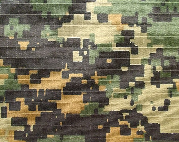 Woodland Camo Fabric Cotton Camouflage Ripstop Army Brown Green Gold