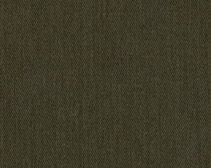 Sanded Brushed Cotton Twill Fabric OLIVE GREEN Apparel Clothing Crafts Home Decorating