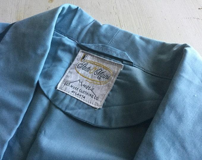 New Old Stock State 'O Maine Mens Robe Muses Atlanta Vintage Blue Bathrobe