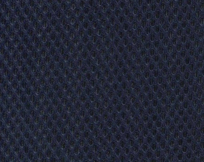 "60"" Wide Padded Mesh Fabric NAVY BLUE Auto Upholstery Bags Shoes Backpacks Straps Crafts Spacer"