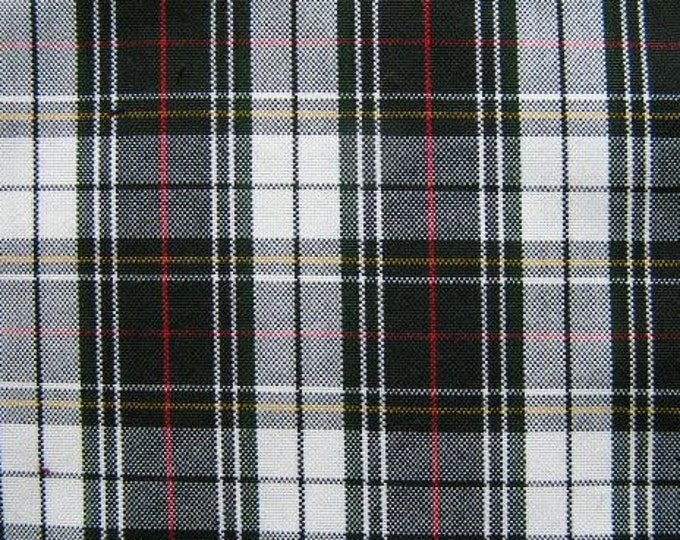 Black White Red Yellow Plaid Fabric Reversible Slipcover Home Decor Apparel Wedding Tablecloth Runner Crafting