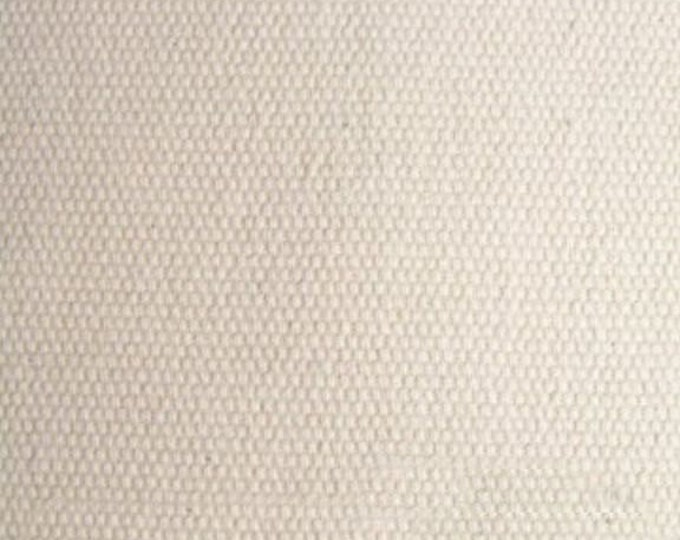 Pre Shrunk Brushed Cotton Duck Canvas Fabric NATURAL Apparel Home Decor Crafts