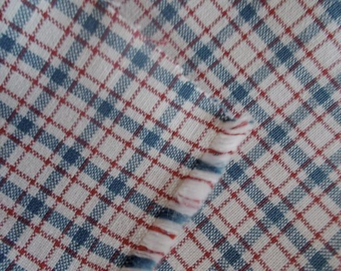 Yarn Dyed Plaid Cotton Fabric Wide White Red Blue Multipurpose Drapery Apparel Home Decor