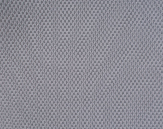 Padded Mesh Fabric LIGHT GRAY SILVER Auto Upholstery Bags Shoes Backpacks Straps Crafts Spacer