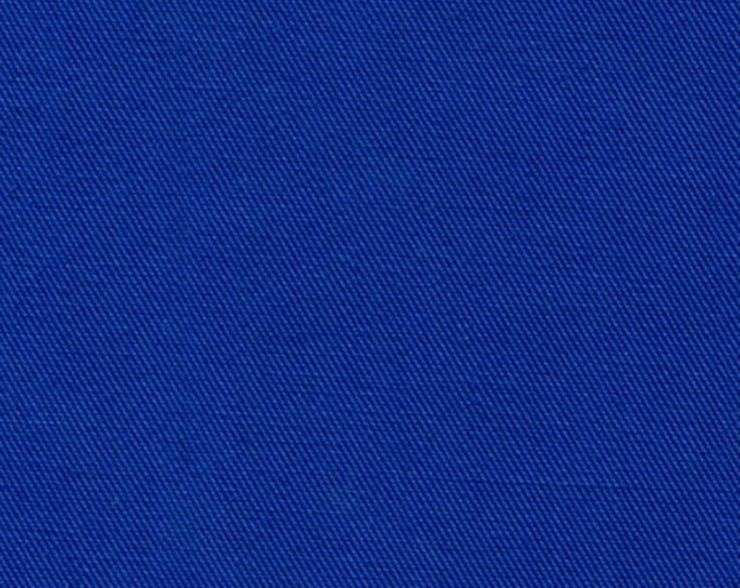 Royal Blue Fabric Recycled Water Bottle ORGANIC Cotton Blend Eco Twill MULTIPURPOSE
