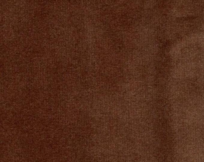 Super Soft COPPER BROWN Washable Velvet Fabric Multipurpose UPHOLSTERY Apparel Home Decor
