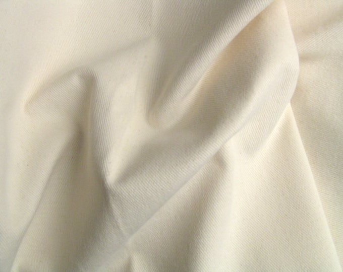 Soft Denim Twill Slipcover Upholstery Fabric COTTON NATURAL