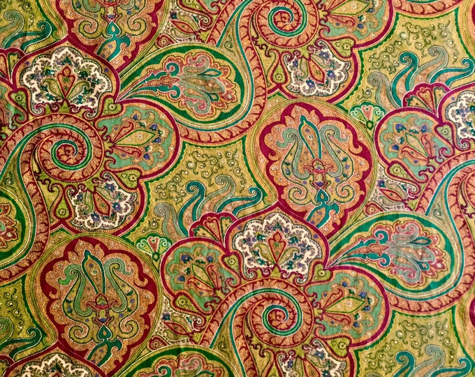 Waverly Paisley Home Decorating Fabric For Drapery Bedding Upholstery Apparel Gold Red Green