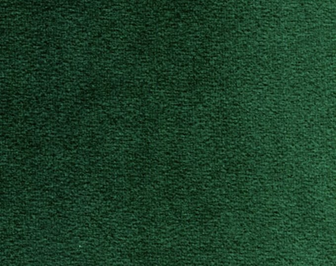 Hunter Green Washable Velvet Fabric Multipurpose DRAPERY UPHOLSTERY Apparel Home Decor