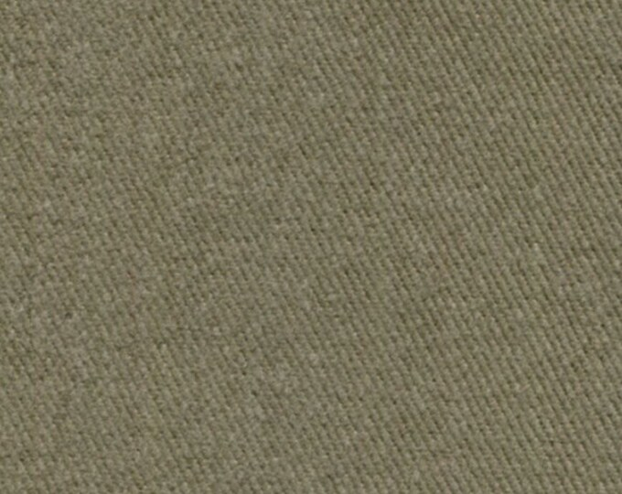 Heavy Brushed Cotton Twill Fabric For Slipcovers Upholstery SADDLE TAN KHAKI