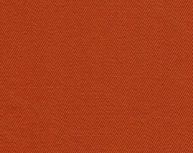 Organic Cotton Twill Fabric Sweet Potato Terra Cotta Apparel Drapery Crafts Medium Weight