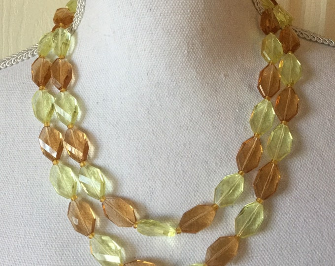 Vintage Double Strand Beaded Necklace With Pretty Clasp Made In West Germany