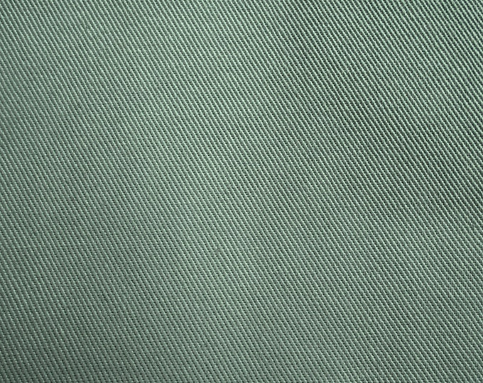 Green Cotton TWILL Fabric SAGE Chino PERFECT For Apparel Home Decor Crafts