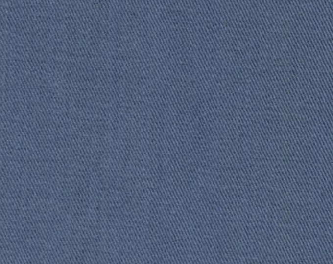 Blue Sanded Brushed Cotton Fabric SLATE Twill Apparel Clothing Crafts Home Decorating
