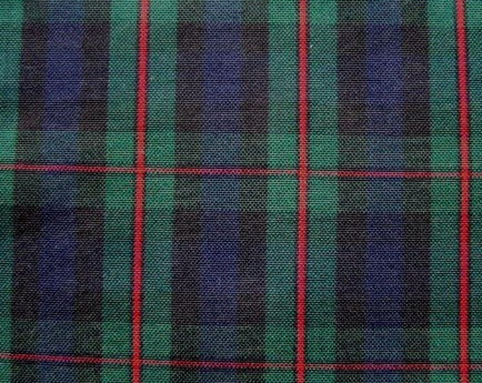 Murray Atholl Tartan Fabric Navy Green Red Plaid Upholstery Slipcover Home Decorating Apparel