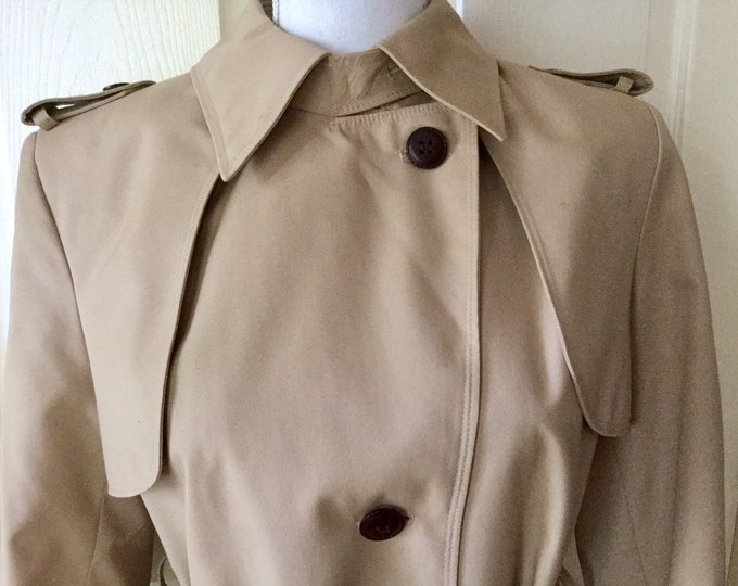 Etienne Aigner Womens Size 10 Trench Coat EXCELLENT CONDITION