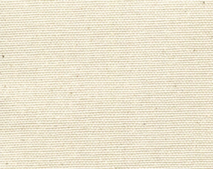 Cream Cotton Canvas Fabric NATURAL Apparel Upholstery Slipcovers Crafts