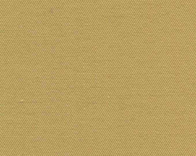Gold Recycled Water Bottle Fabric Organic Cotton Blend Eco Twill  HONEY MULTIPURPOSE