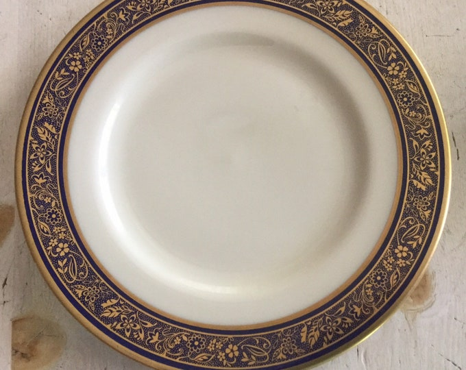 Lenox Barclay Fine China Bread and Butter Plate Dinnerware Blue Gold