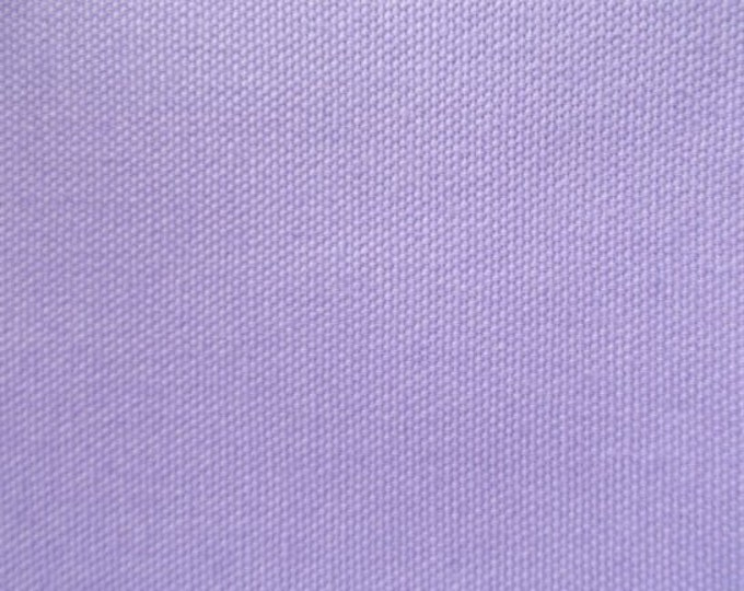 Lavender Organic Cotton CANVAS Fabric For Apparel Home Decor Crafts Duckcloth