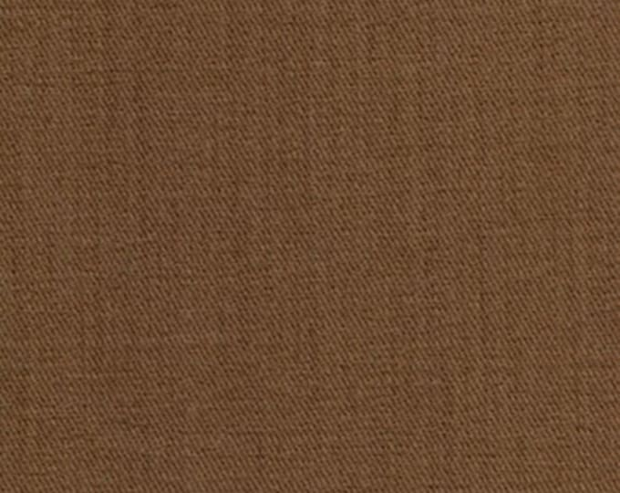 Brown Sanded Fabric Nutmeg Brushed Twill Apparel Clothing Crafts Home Decorating