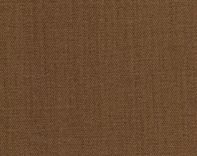 Brown Sanded Twill Fabric Nutmeg Brushed Apparel Clothing Crafts Home Decorating