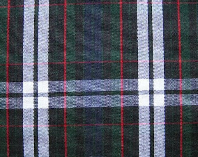 School Uniform Plaid Fabric Green Navy White Red Drapery Apparel Crafting Fabric MULTIPURPOSE