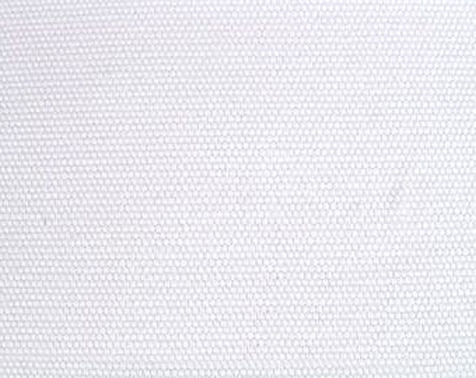 Pure White Brushed Cotton Duck Canvas Fabric For Home Decor Crafts Apparel Slipcovers