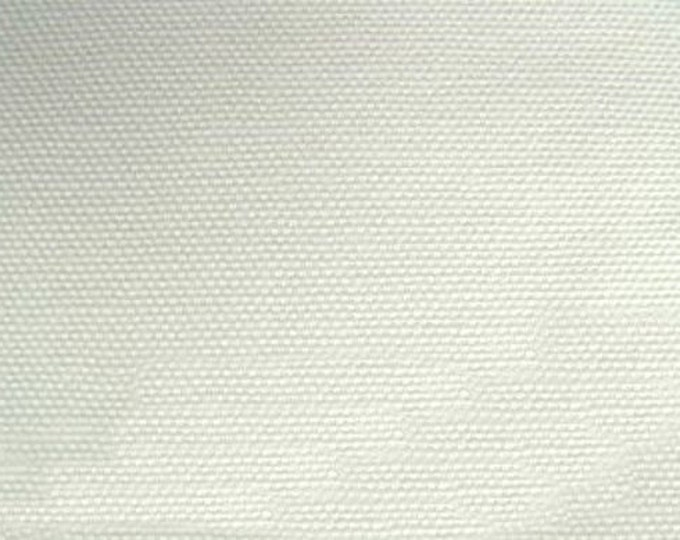 Soft Organic Cream Cotton Duck Canvas Fabric Creamy White For Apparel Home Decor Crafts PFD Ivory